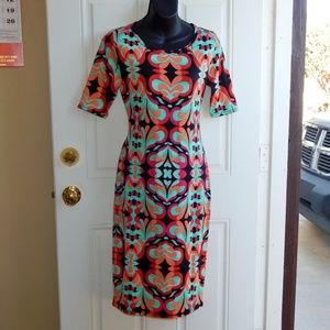 LULAROE SS T-Shirt Sheath Dress  RN142161